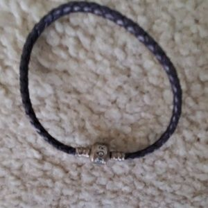 Purple braided Pandora bracelet